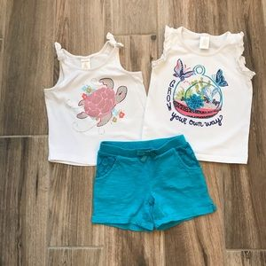 Gymboree Tank Tops and Shorts Set 3T